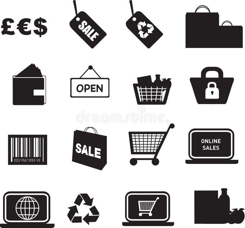 Kleinhandels pictogramreeks