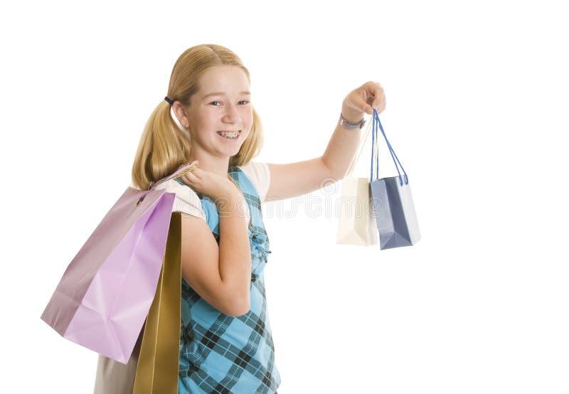 Kleinhandels Winkelende Tiener stock foto's