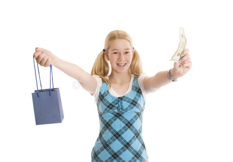 Kleinhandels Winkelende Tiener royalty-vrije stock fotografie