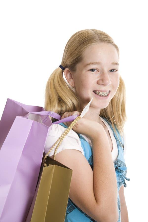 Kleinhandels Winkelende Tiener royalty-vrije stock afbeeldingen