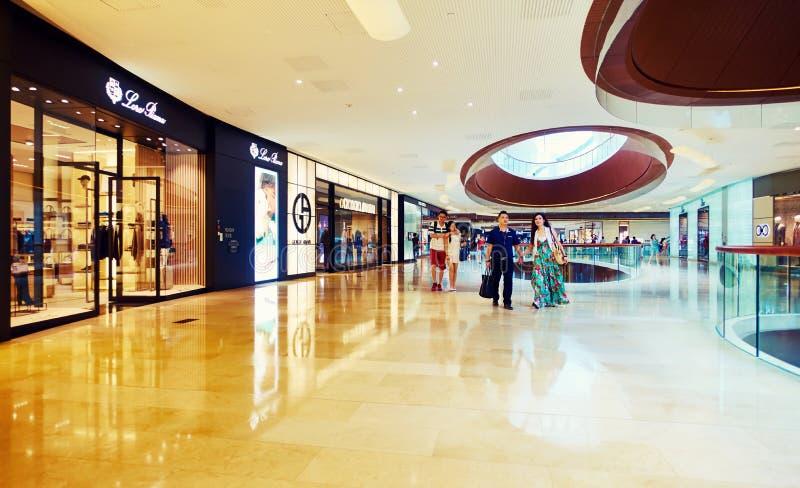 Kleinhandelswinkelcomplexcentrum stock foto's