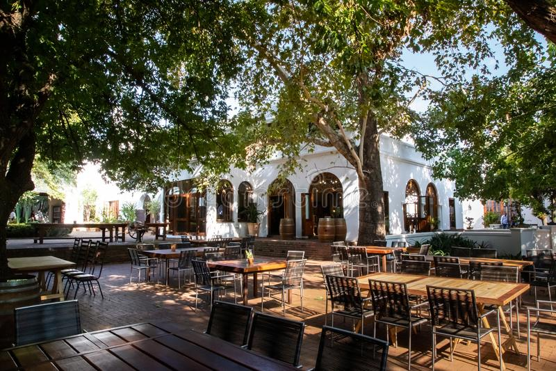 Kleinkaap Hotel in Centurion South Africa. Pretoria, South Africa, 11 February - 2019: Exterior view of hotel in the cape dutch style royalty free stock images