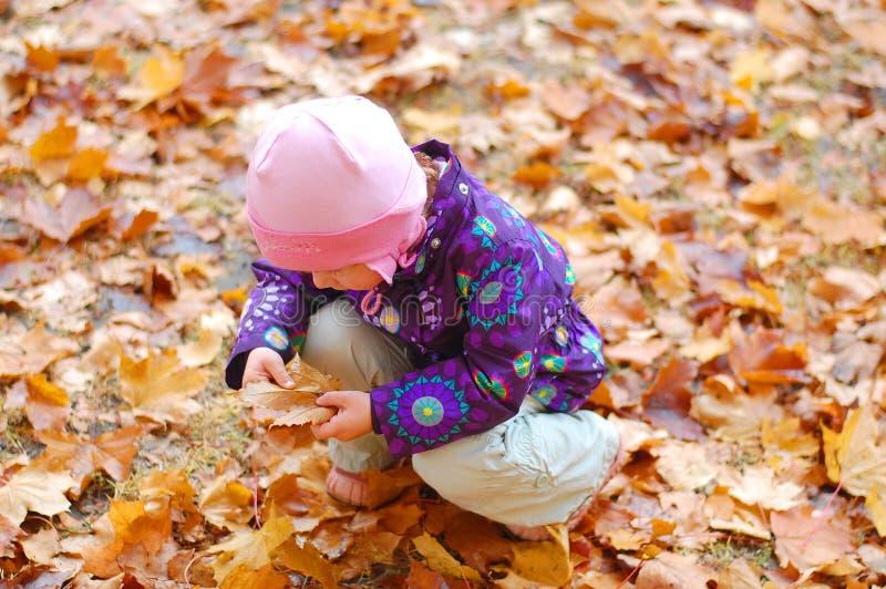 Kleinkind im Park stockfoto