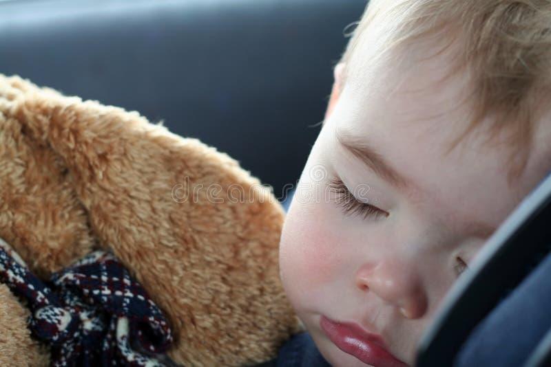 Kleinkind-Schlafen stockbild