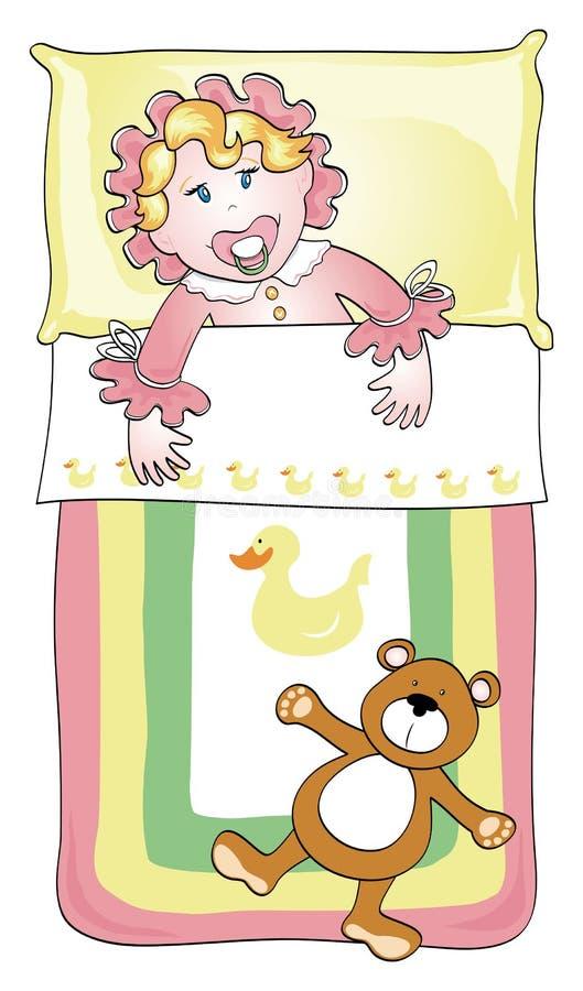 Kleinkindbett stock abbildung