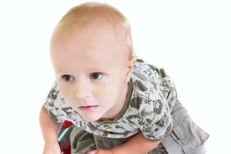 Kleinkindjungenportrait lizenzfreie stockbilder