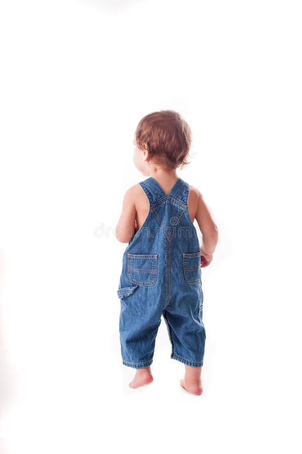 Kleinkindkind von der Rückseite lizenzfreie stockbilder