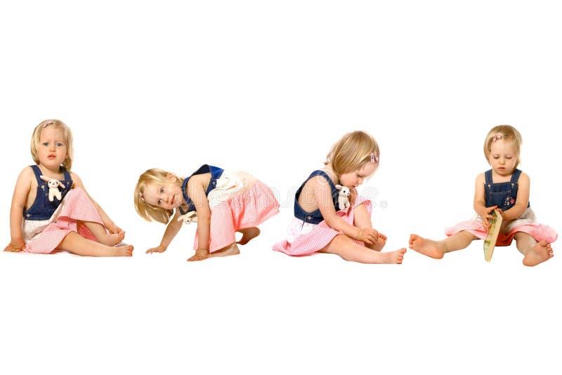 Kleinkindmädchen in den Spaßaktivitäten lizenzfreies stockbild