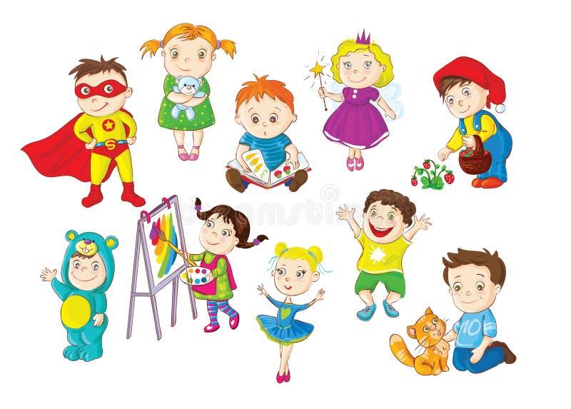 Kleinkindtätigkeiten vektor abbildung