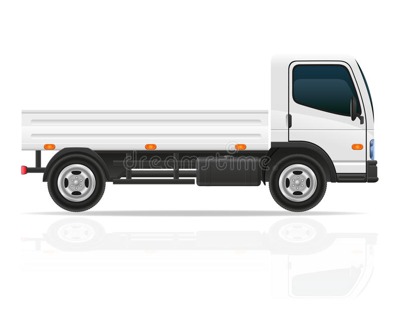 Fracht Lkw Mit Kran Fur Anhebende Waren Vector Illustration