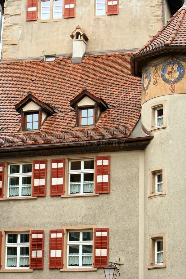 Kleinstadt, Feldkirch, Österreich stockfotografie