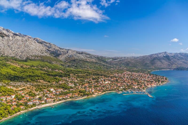 Orebic, Kroatien stockbild