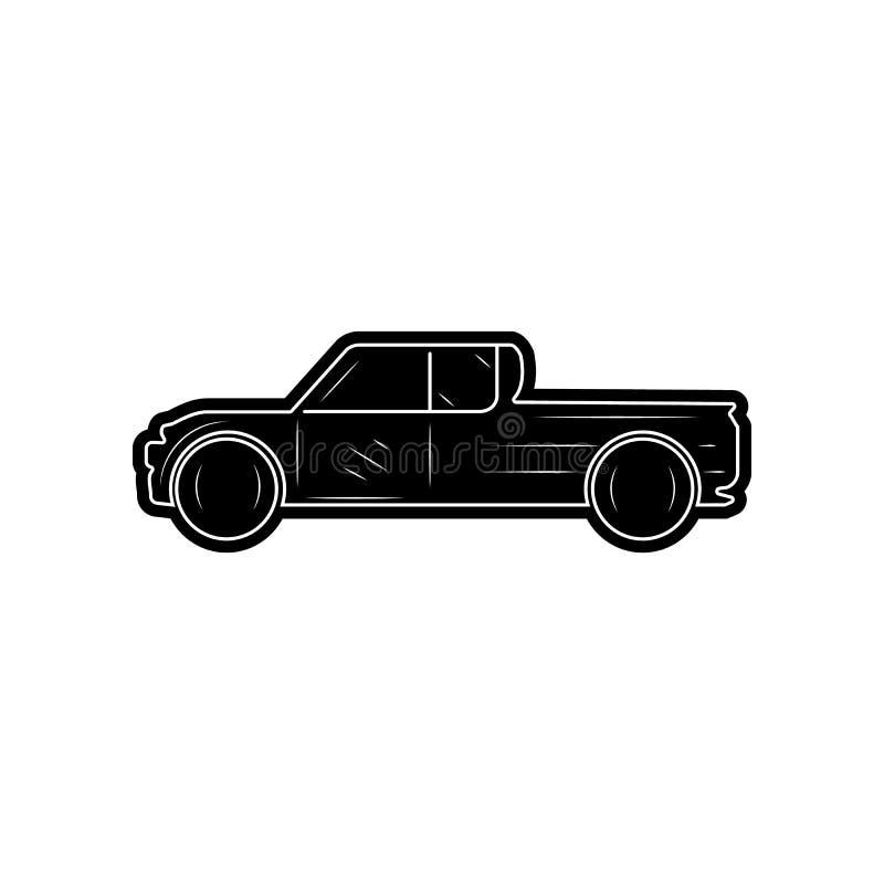 Kleintransporterikone Element von Autos f?r bewegliches Konzept und Netz Appsikone Glyph, flache Ikone f?r Websiteentwurf und Ent lizenzfreie abbildung