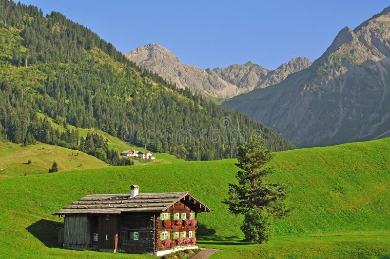 Kleinwalsertal, Vorarlberg, Austria immagine stock libera da diritti