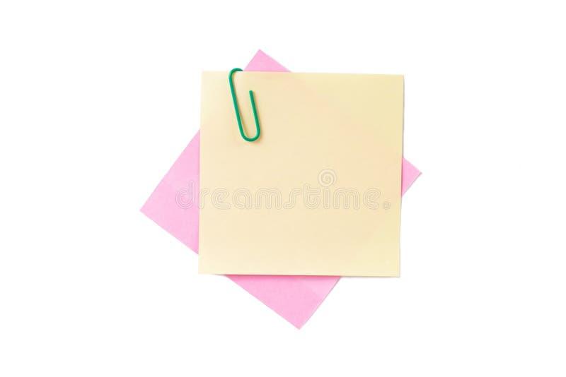 Kleiste poczta z Papierową klamerką fotografia stock