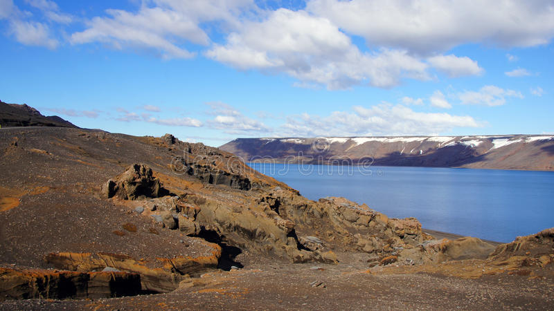 Kleivatn jezioro w Iceland fotografia royalty free