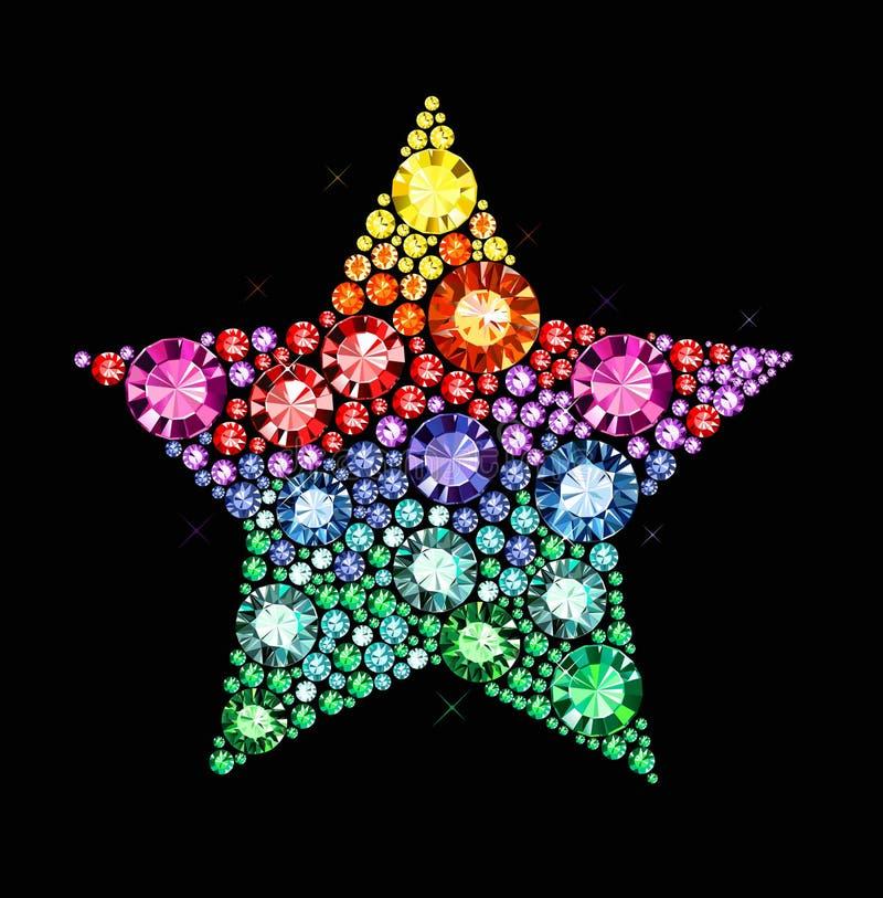 Klejnot gwiazda royalty ilustracja