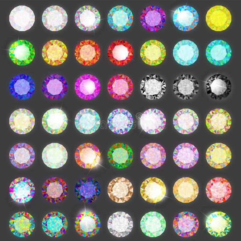 klejnoty ustawiający Diamentu set royalty ilustracja