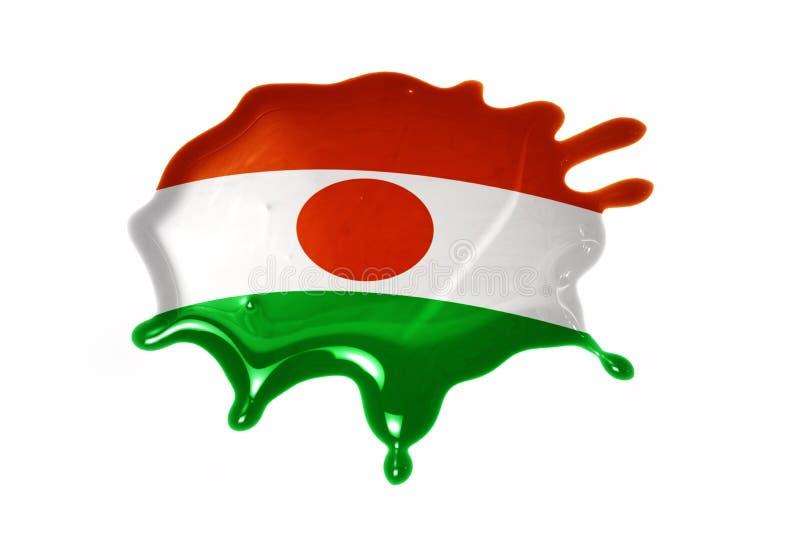 Kleks z flaga państowowa Niger zdjęcia stock