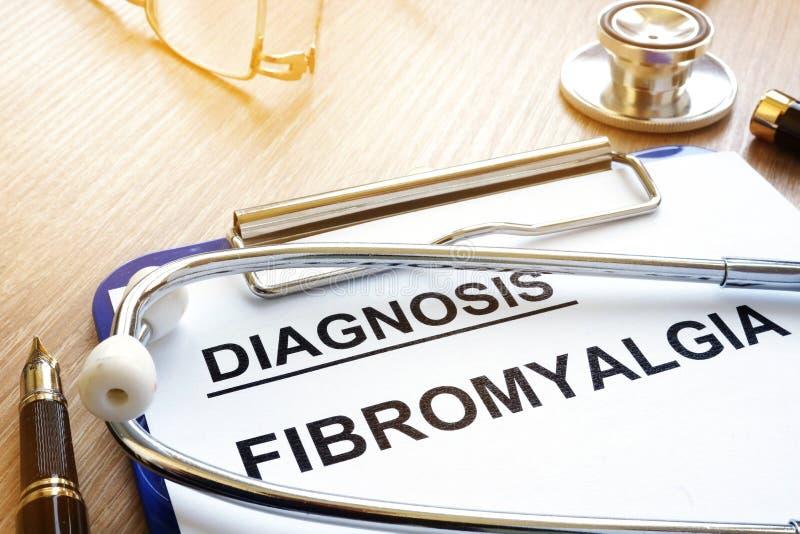 Klembord met diagnosefibromyalgia royalty-vrije stock fotografie