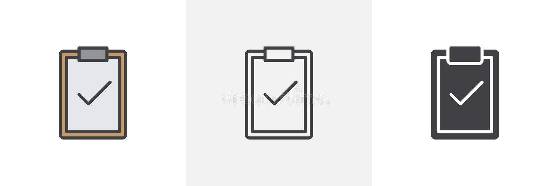Klembord met vinkjepictogram stock illustratie
