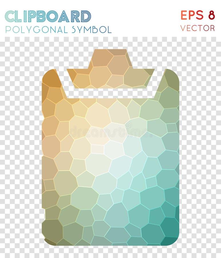 Klembord veelhoekig symbool vector illustratie