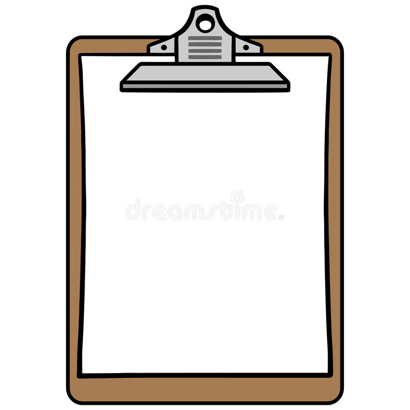 Klembordsymbool stock illustratie