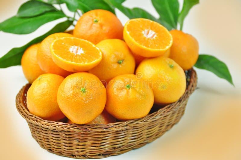 Download Klementinen stockbild. Bild von korb, herbst, orange - 27734463