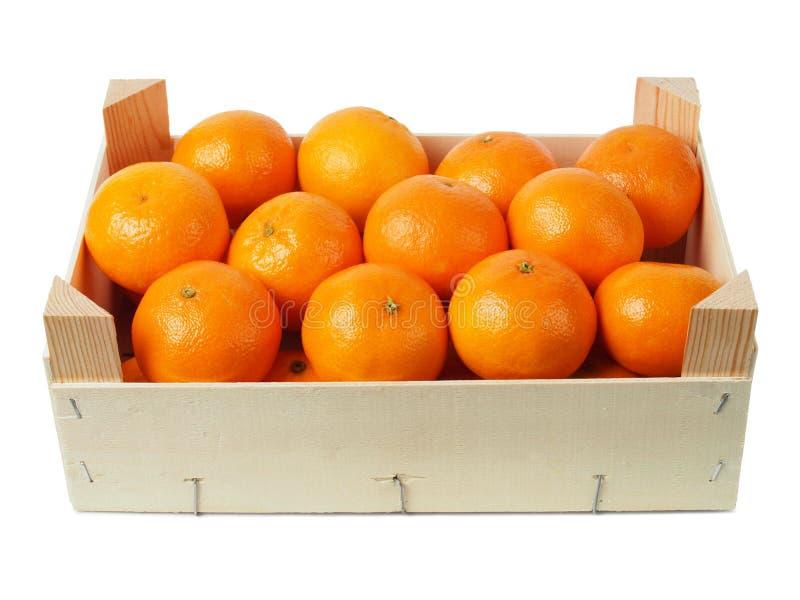 Klementinen in einem Kasten lizenzfreies stockbild