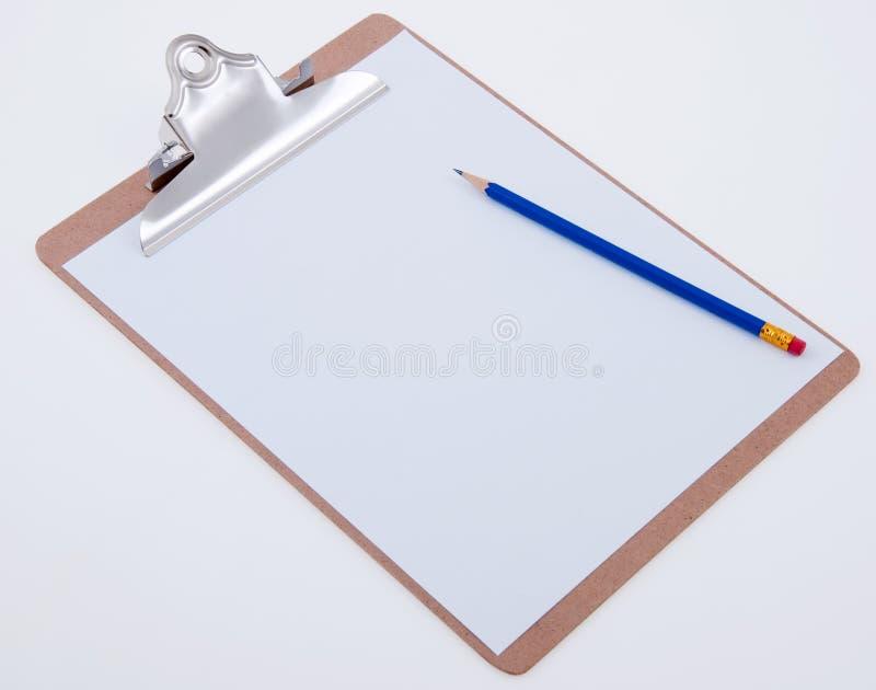 Klemmbrett mit Bleistift stockbilder