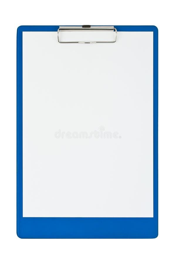 Klemmbrett und Papier lizenzfreie stockbilder
