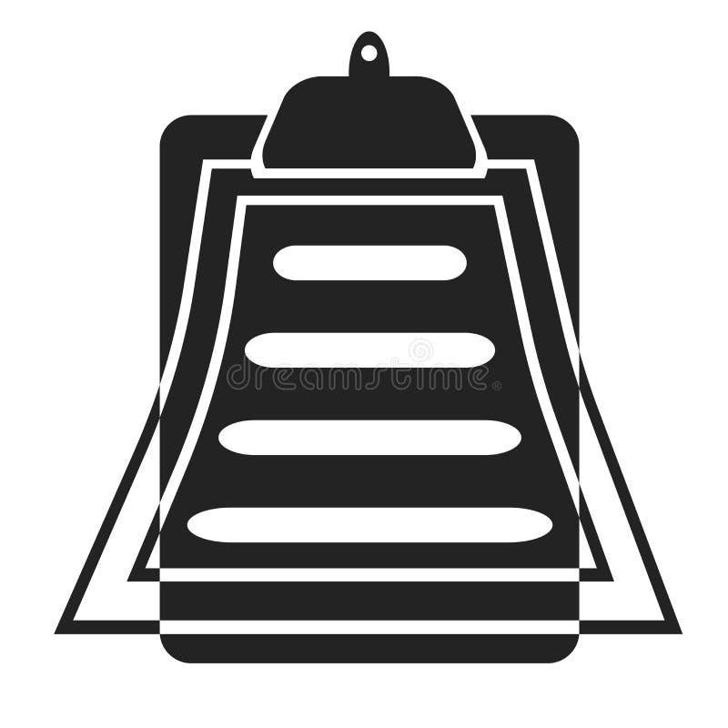 Klemmbrettikonenvektorzeichen und -symbol lokalisiert auf weißem Hintergrund, Klemmbrettlogokonzept lizenzfreie abbildung