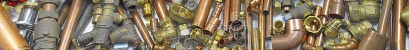 Klempner ` s Rohr- und Installationswebsitefahne lizenzfreie stockfotografie