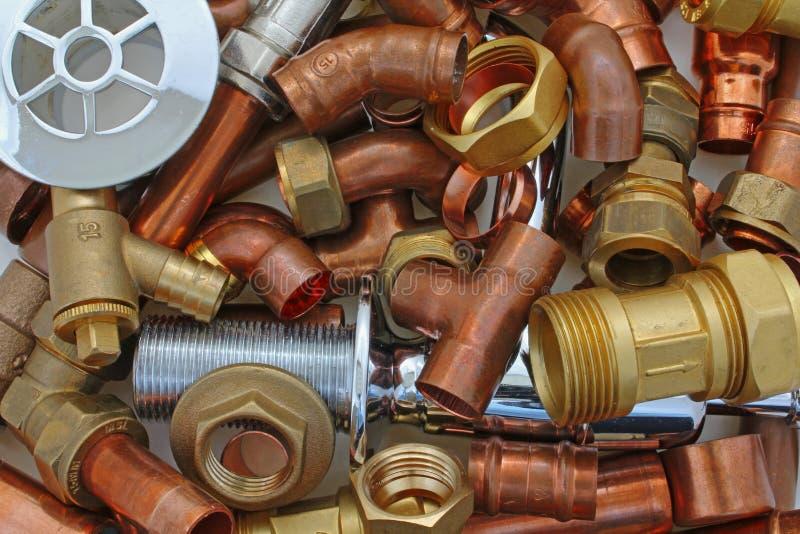 Klempner ` s Rohre und Installationen lizenzfreies stockfoto