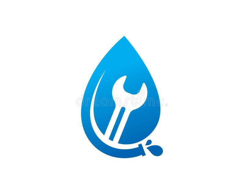 Klempnerarbeit-Service Logo Template Design Vector, Emblem, Konzept des Entwurfes, kreatives Symbol, Ikone stock abbildung