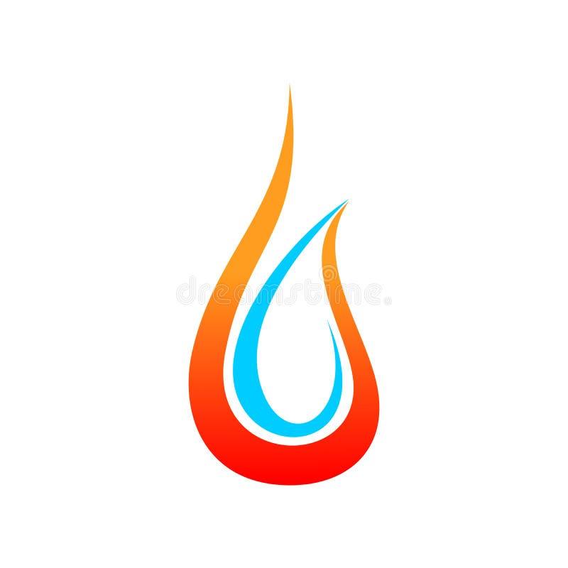 Klempnerarbeit-und Heizungs-Symbol-Design stock abbildung