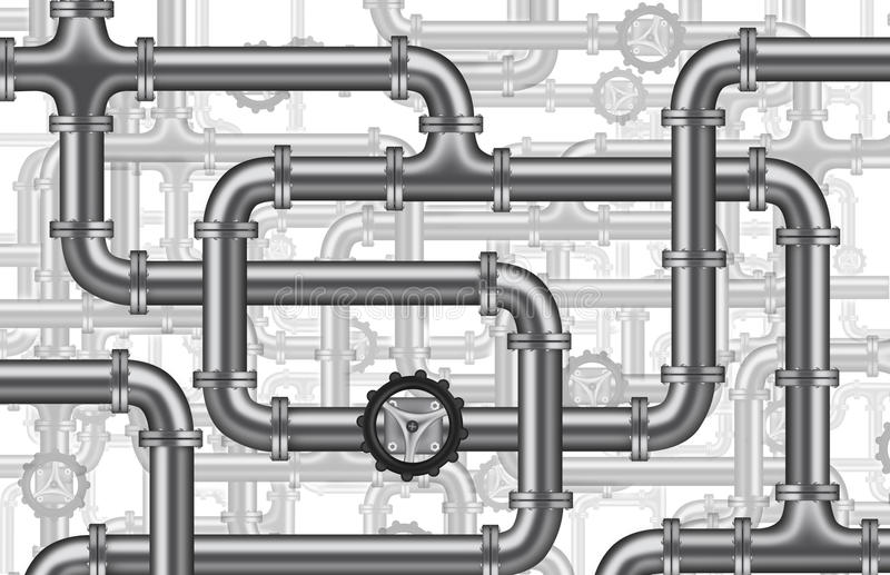 Klempnerarbeitwasser-Ölpipelineventil getrennt vektor abbildung