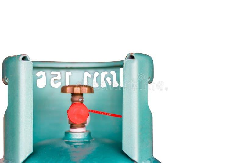 Klep van LPG die gasflessenconsument koken stock afbeelding