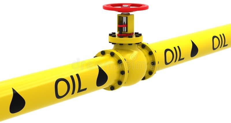 Klep voor het pompen van olie stock illustratie