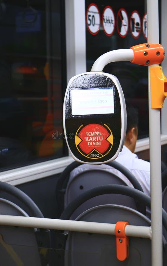Klepnięcie na autobusie obrazy royalty free
