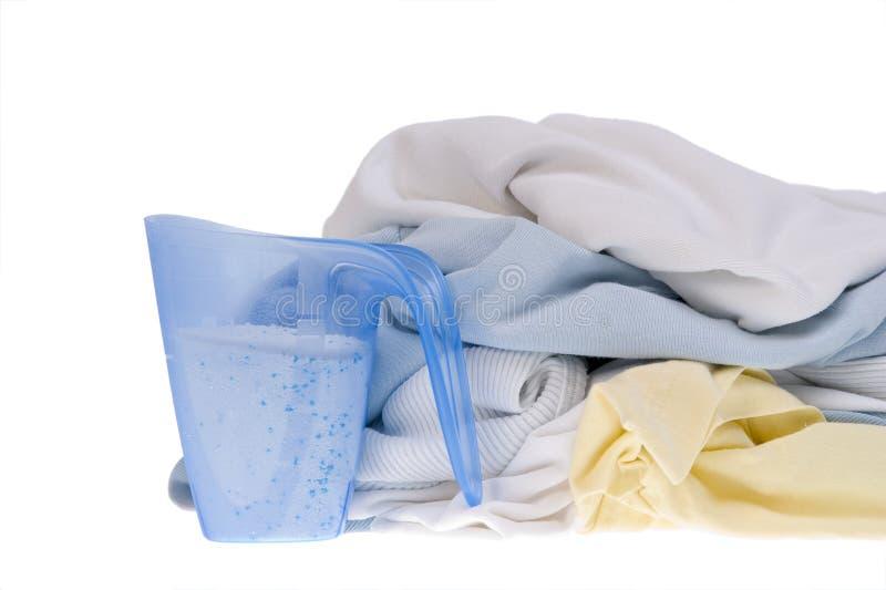 Kleren voor de wasserij royalty-vrije stock afbeeldingen