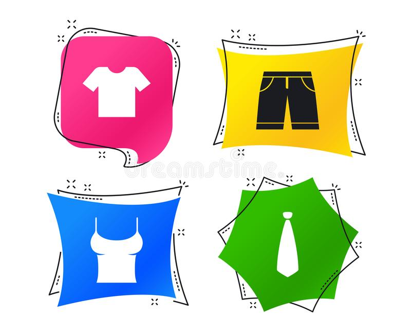 Klerentekens T-shirt en broek met borrels Vector stock illustratie