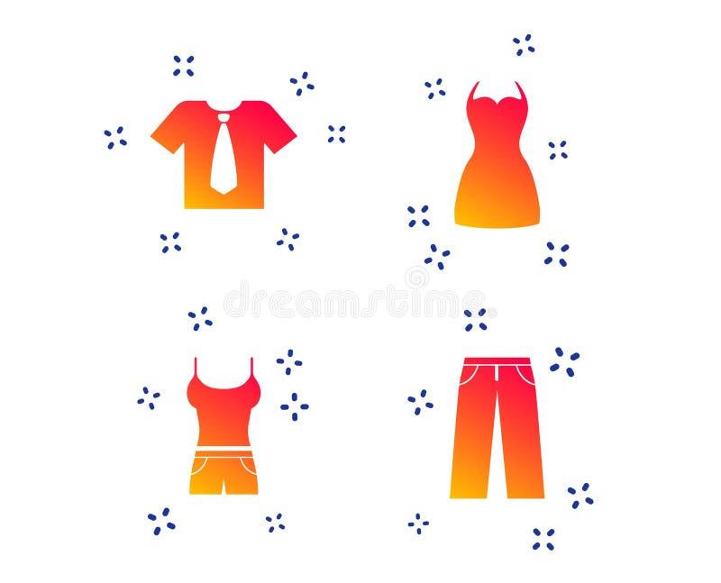 Klerentekens T-shirt met band en broek Vector vector illustratie