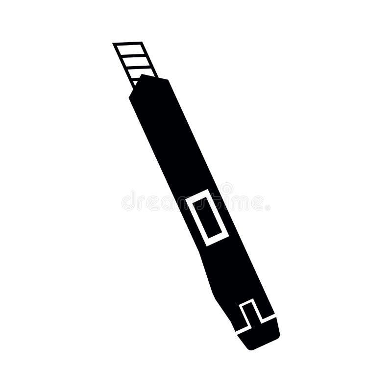 Klerykalny nożowy krajacz ikony czerni sylwetki wektor odizolowywający ilustracji