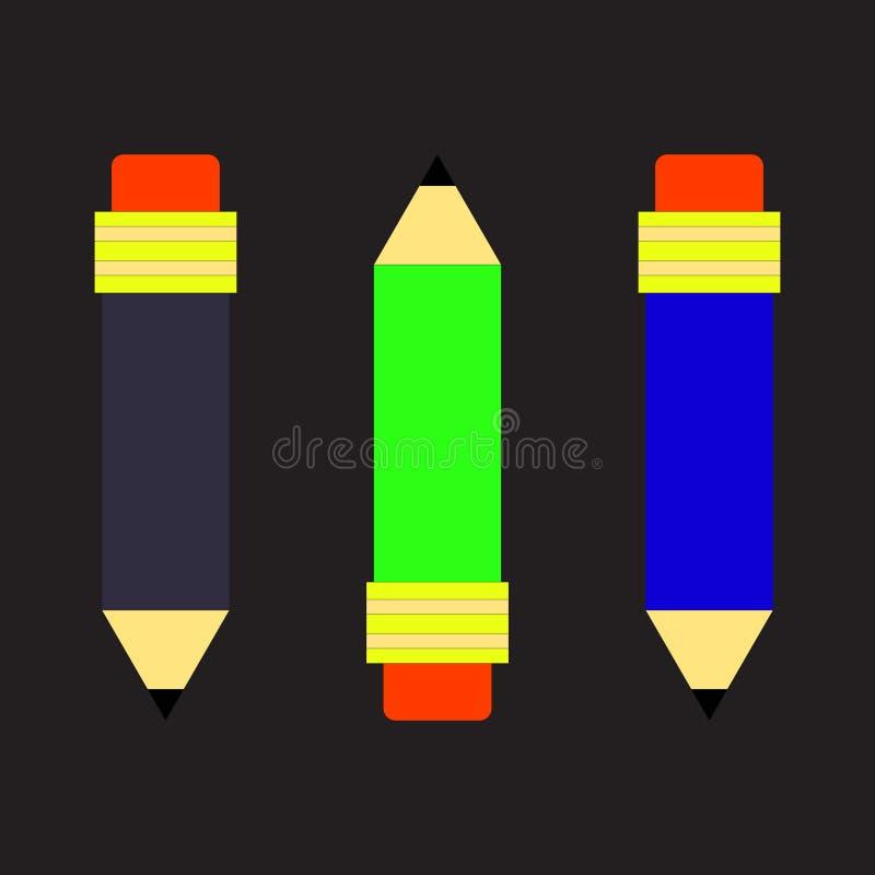 Klerykalny pensil grafit ilustracji