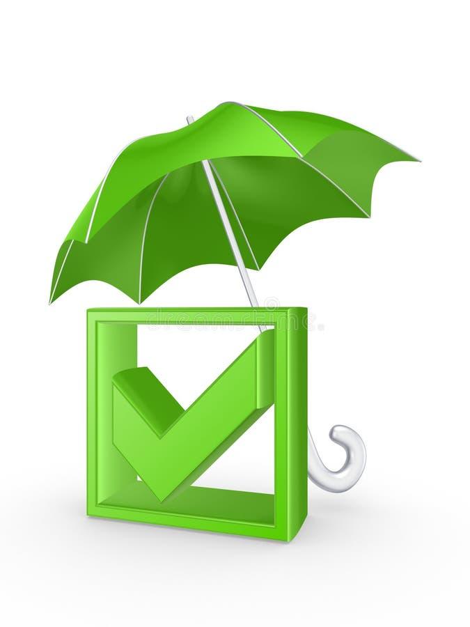 Kleszczowa ocena pod parasolem. royalty ilustracja