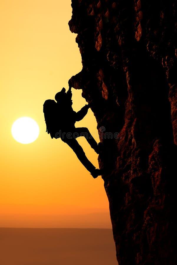 Klettern lizenzfreie stockfotografie