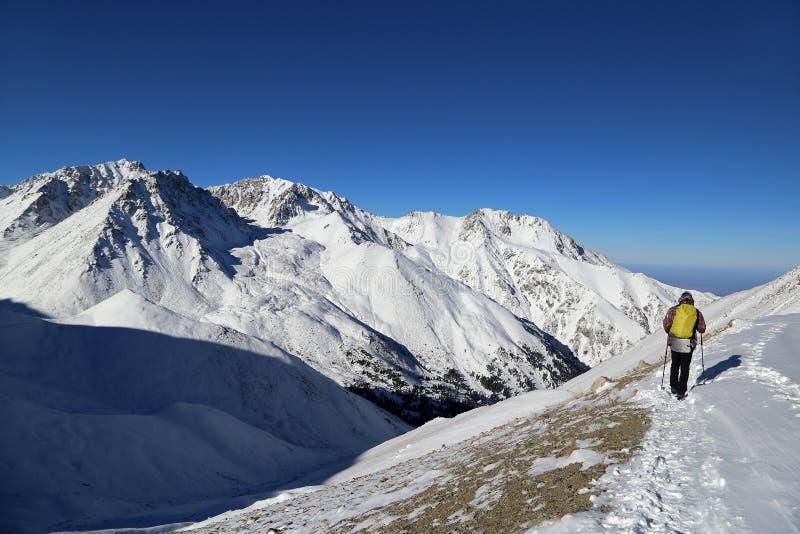 Klettern der gro?en Almaty-Spitze stockbild