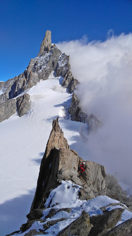 Klettern der Marbree-Kante stockfoto