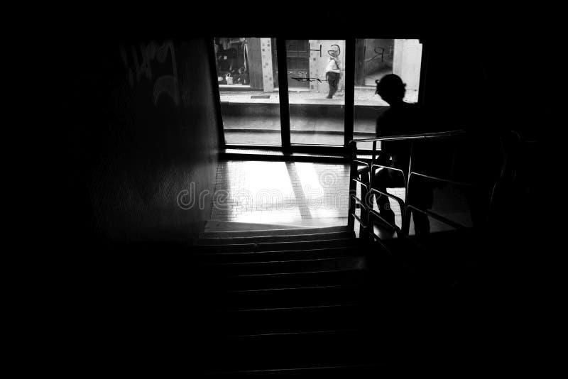 Klettern der Treppe lizenzfreies stockfoto